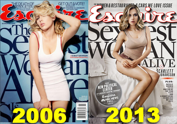 Image result for scarlett johansson esquire sexiest woman alive twice